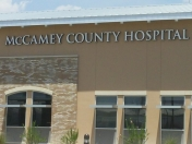 Photo of McCamey County Hospital sign