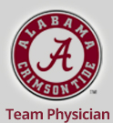 Alabama Crimson Tide Team Physician