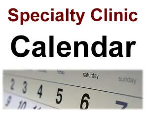 Specialty Clinic Provider Calendar