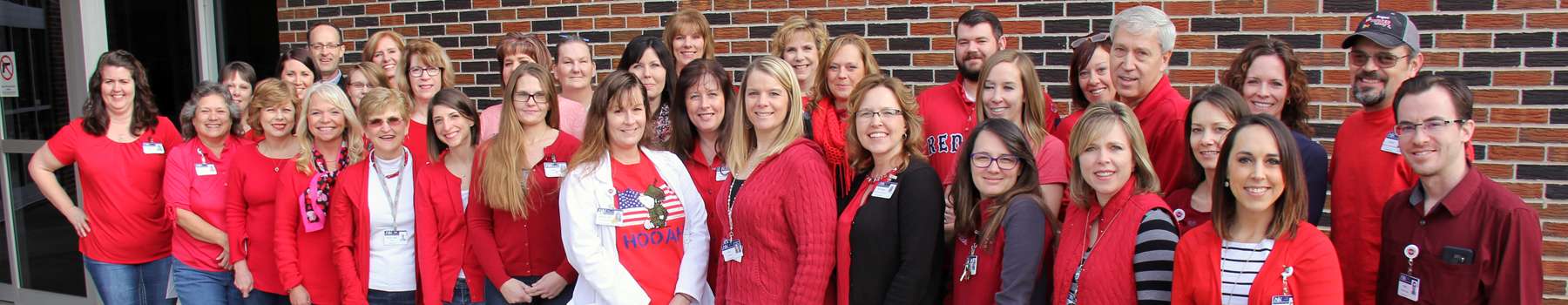 William Newton Hospital Wear Red Day