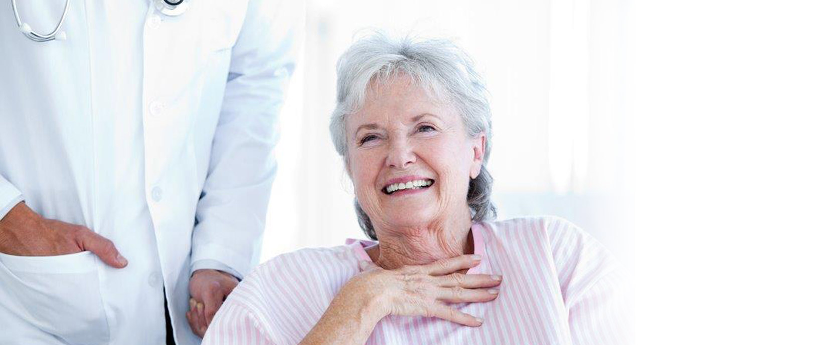 Photo of older woman laughing