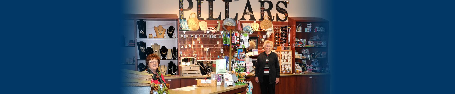 Pillars Gift Shop.
