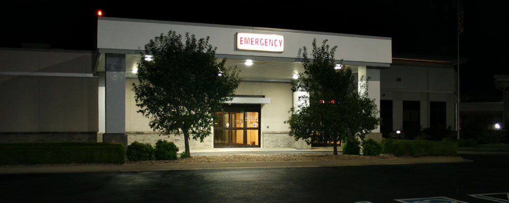 A front view of the Emergency department