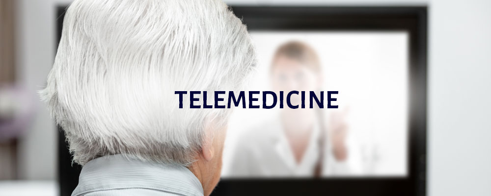 Telemedicine: an image of an elderly women