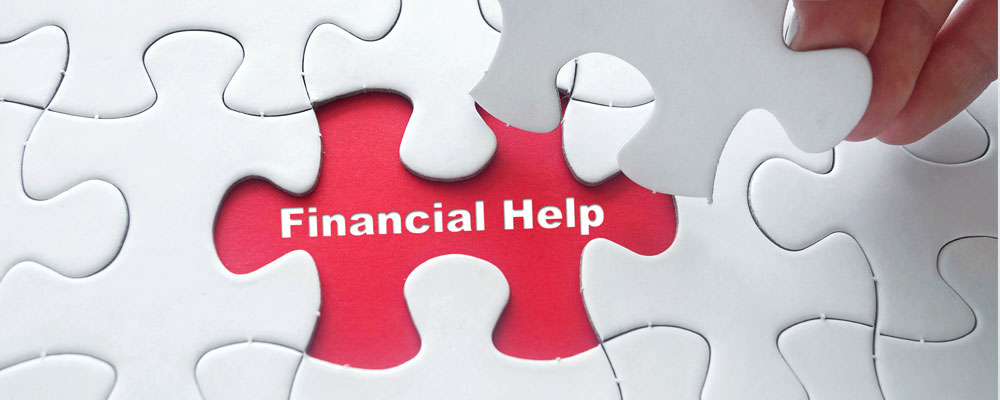 Financial Help and an image of a puzzle