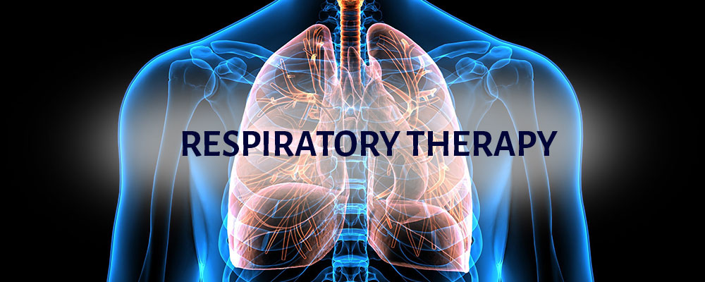 Respiratory Therapy with an image of a lungs