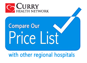 pricing transparency, compare prices of Curry Health Network services and procedures