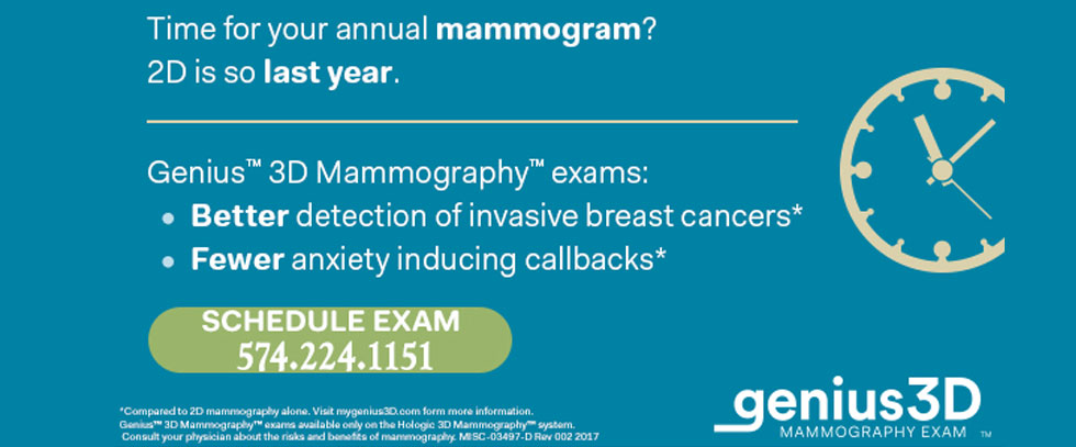 Time for your annual mammogram 2d is so last year. 