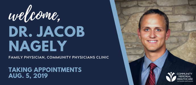 New physician Dr. Nagely starts Aug. 5