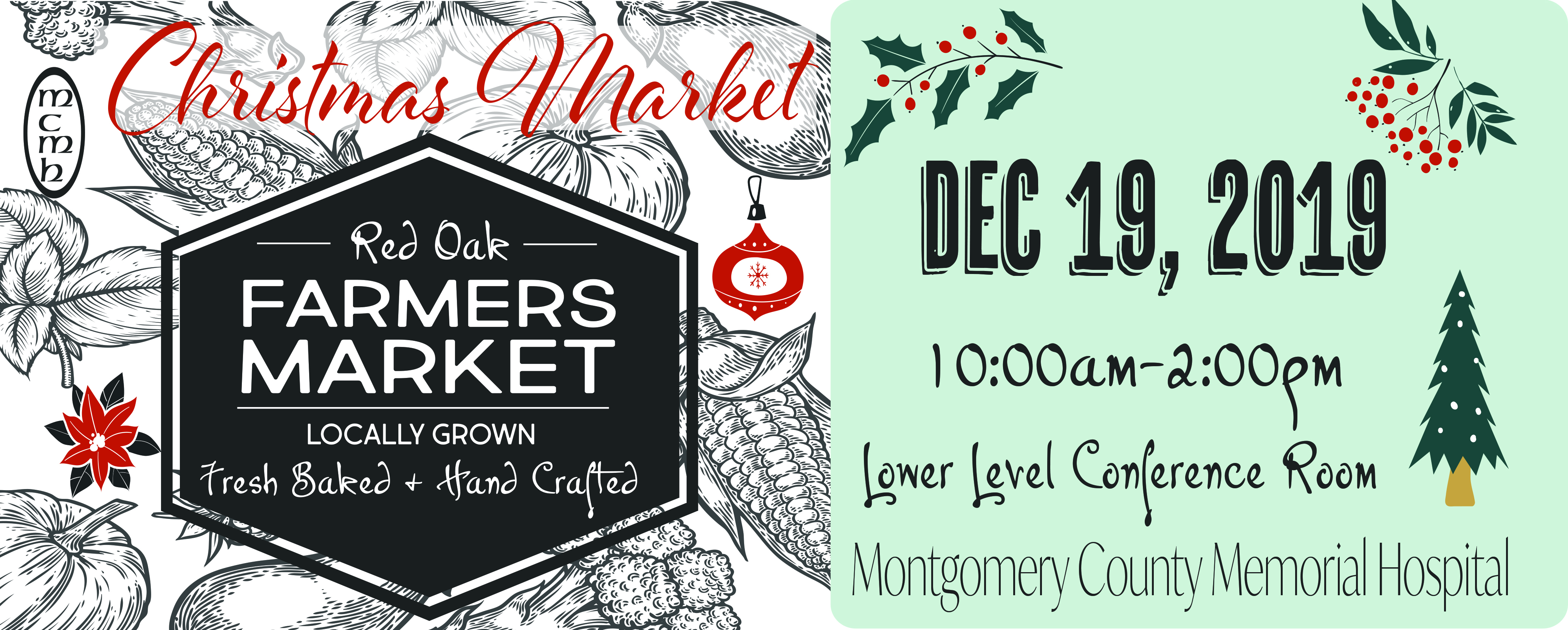 Christmas Farmers Market: December 19th