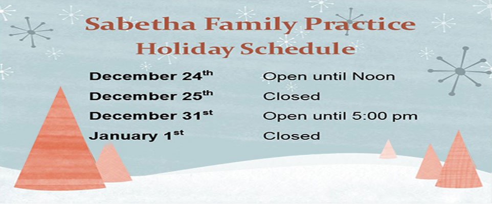 Sabetha Family Practice Holiday Schedule