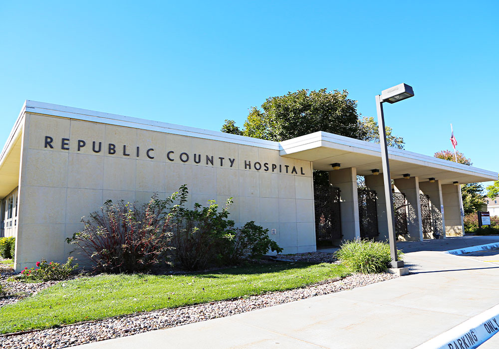Front of Republic County Hospital