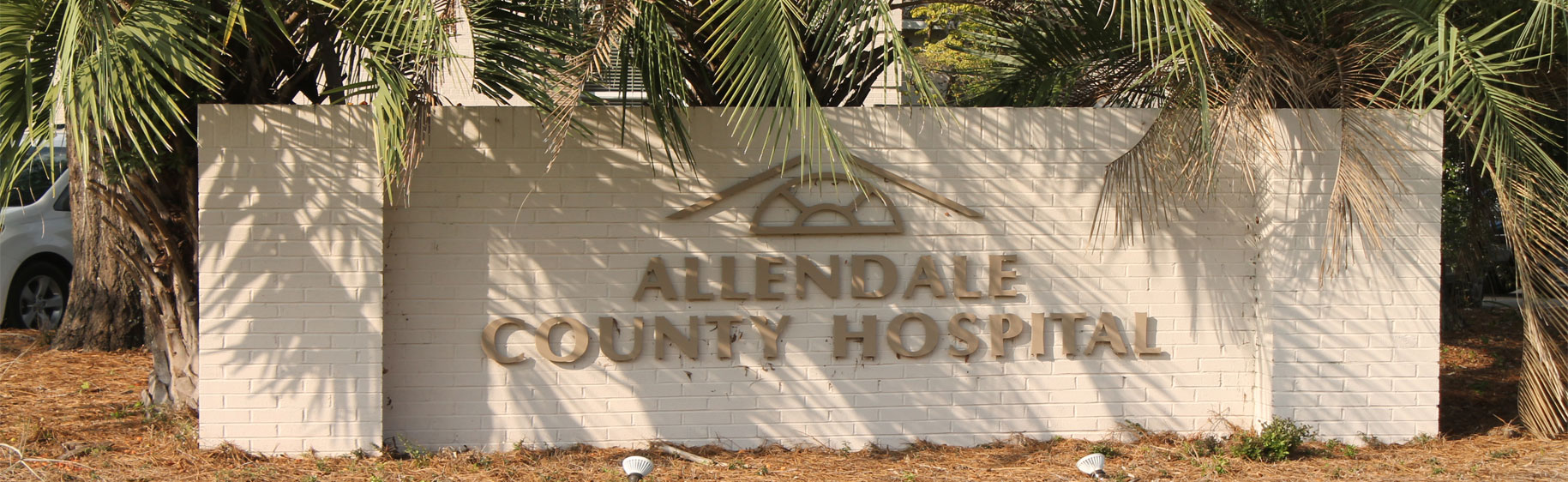 Allendale County Hospital Sign