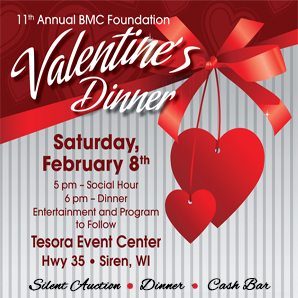 11th Annual BMC Foundation Valentine's Dinner. Click for more information.