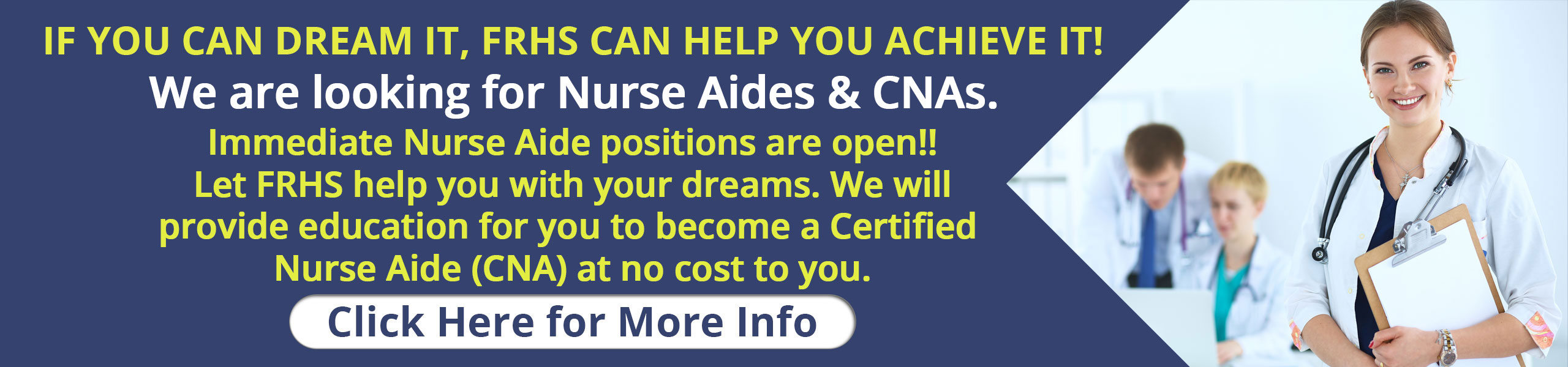 If you can dream, FRHS can help you achieve it!