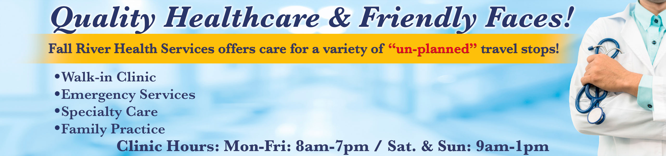 Quality Healthcare & Friendly Faces!