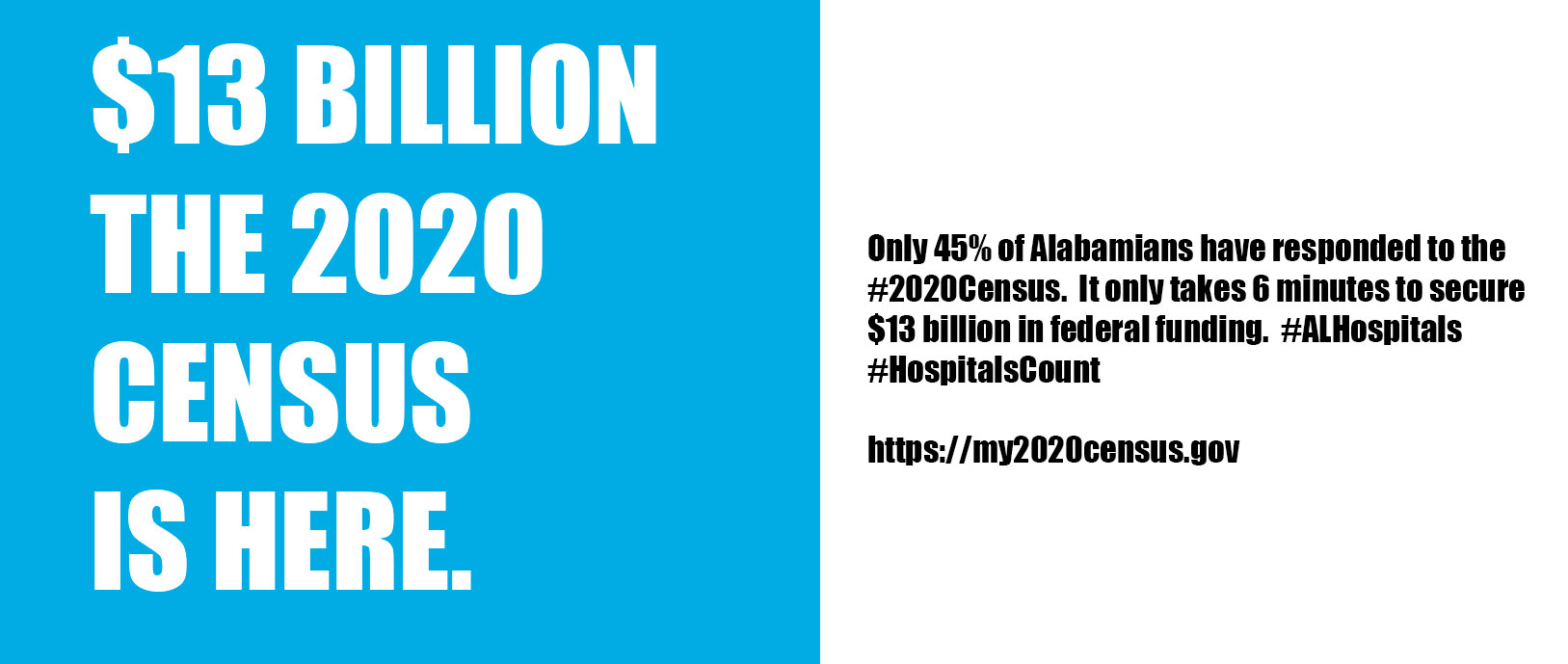 $13 billion the 2020 Census is here.