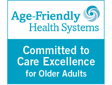 We are excited to be part of a nationwide movement to improve health care for older adults. We recently joined AgeFriendlyHealthSystems, an initiative of The John A. Hartford Foundation, Institute for Healthcare Improvement - IHI, American Hospital Association, and The Catholic Health Association of the United States.