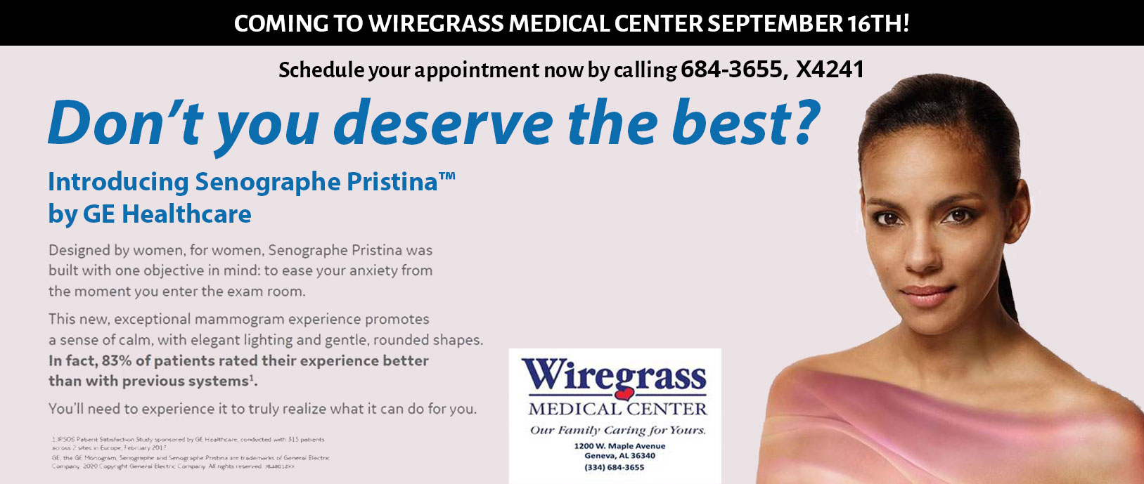 Dont you deserve the best? Introducing Senographe Pristina by GE Healthcare.