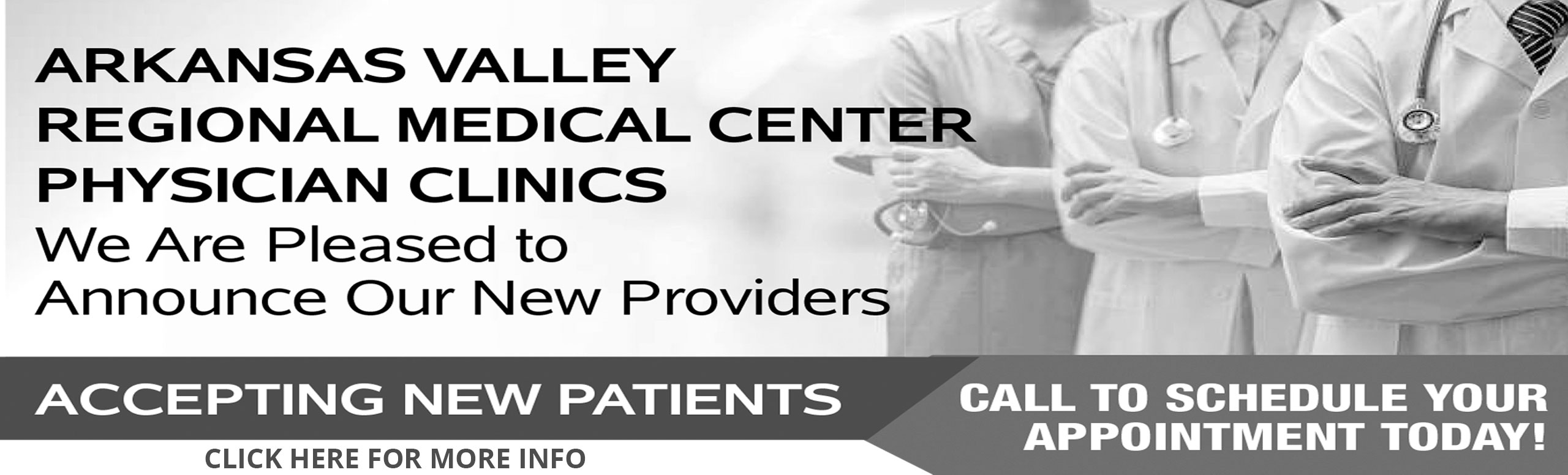Arkansas Valley Regional Medical Center Physician center physician clinics. We are pleased to announce our new providers.   Call to schedule your appointment today!  Click here for more information