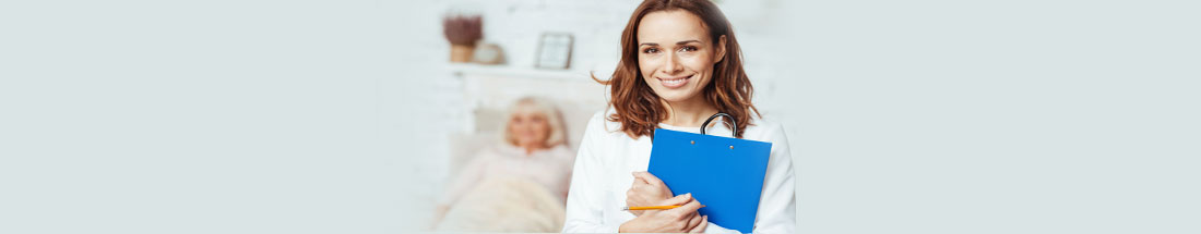 This is a picture of a doctor holding a file