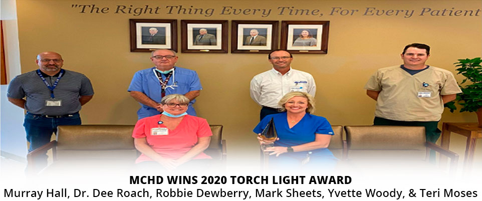 MCHD WINS 2020 TORCH LIGHT AWARD.