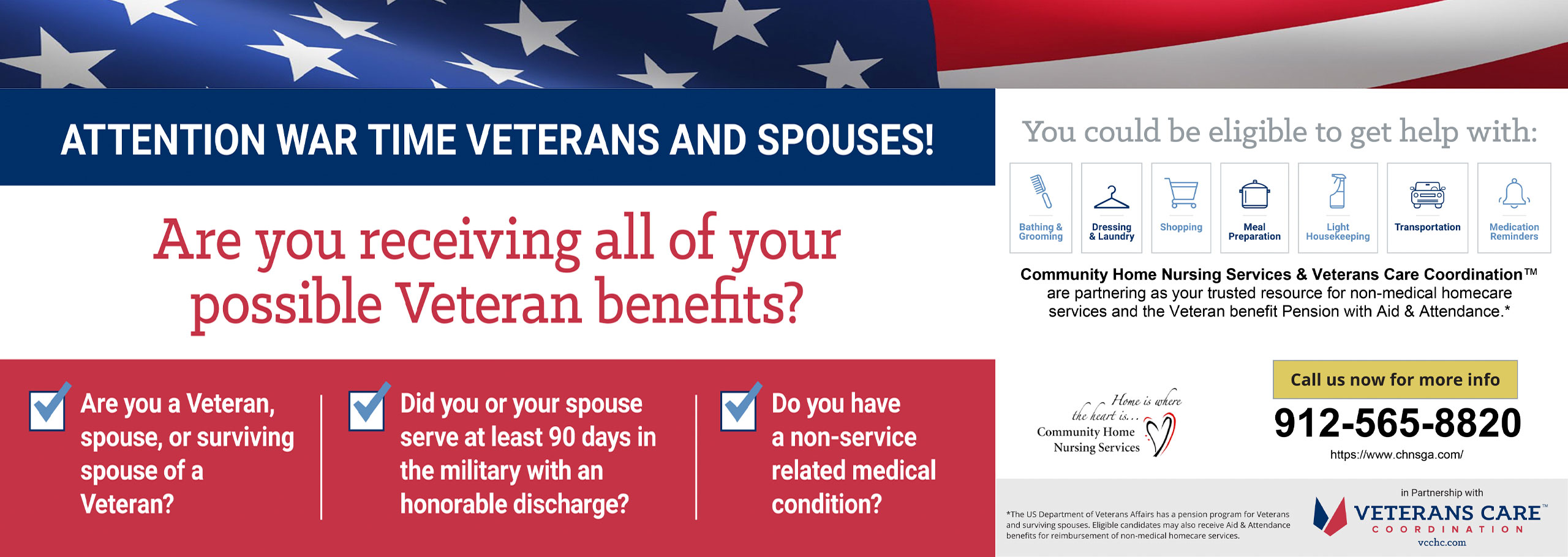 Attention War Time Veterans and Spouses. Are you you Receiving all of your possible Veteran Benefits?