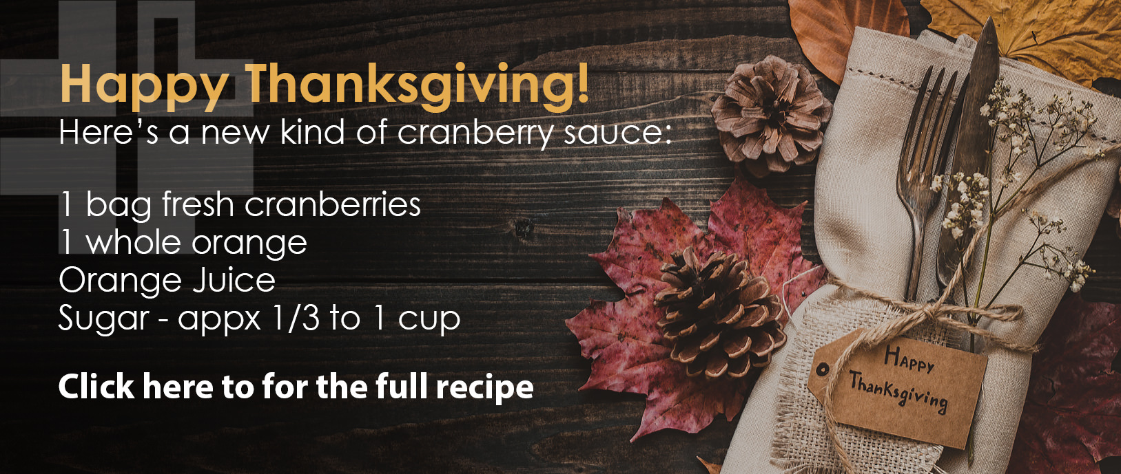 Want to add a twist to your Thanksgiving Dinner? Try this recipe!