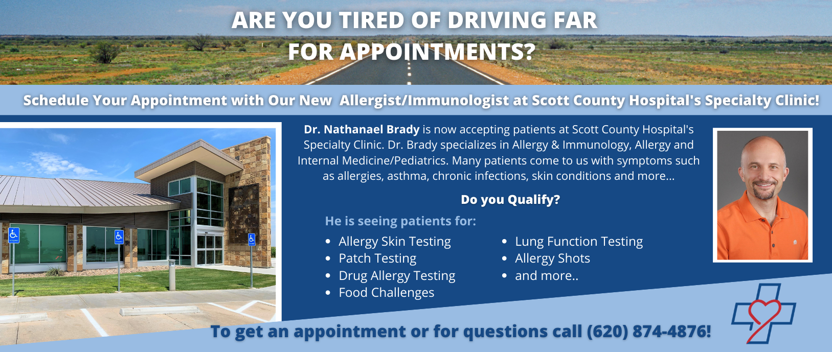 Are you Tired of driving far for appointments?