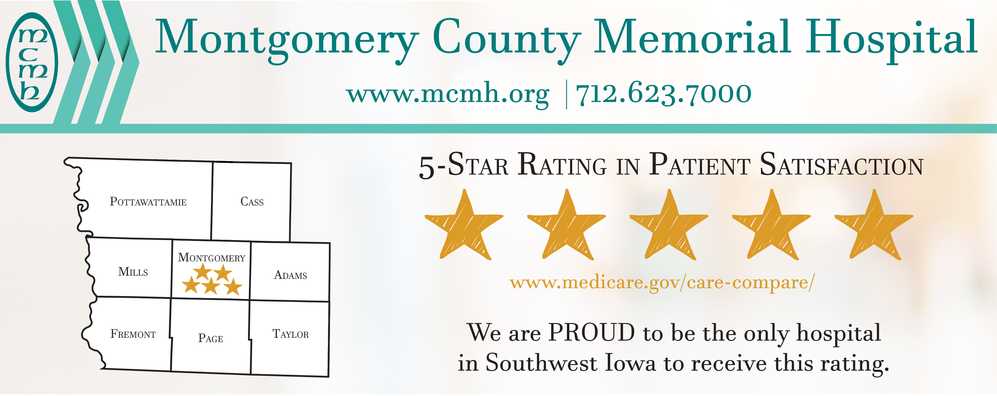 MCMH earns 5-Star Rating for Patient Satisfaction from CMS (Medicare)!