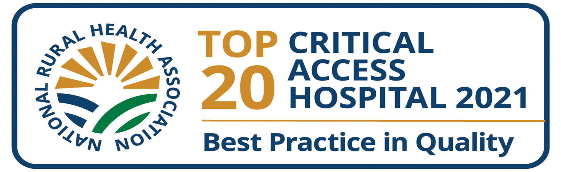 National Rural Health Association   Top 20 Critical Access Hospital 2021  Best Practice in Quality
