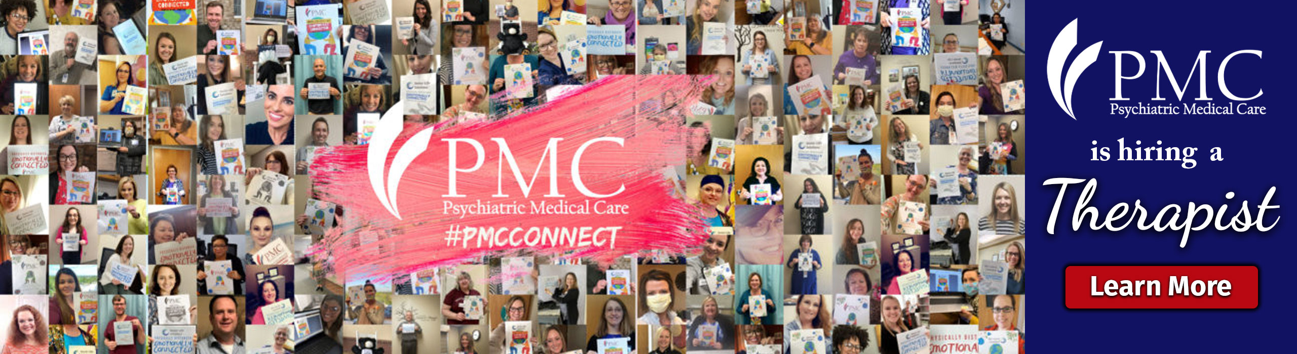 PMC is hiring a Therapist. Learn More