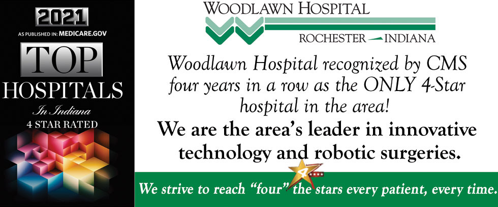 """Woodlawn Hospital by recognized by CMS four years in a row as the ONLY 4-Star hospital in the area!  We are the area's leader in innovative technology and robotic surgeries.   We strive to reach """"four"""" the stars every patient, every time."""
