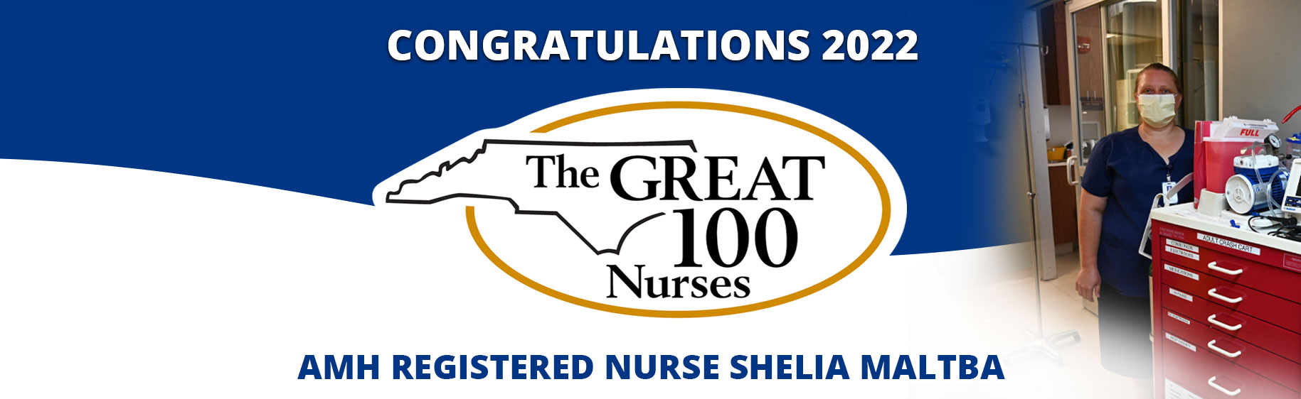 Congratulations to AMH registered nurses Kina Jones and Kelly Sheets for being named 2021 Great 100 Nurses!