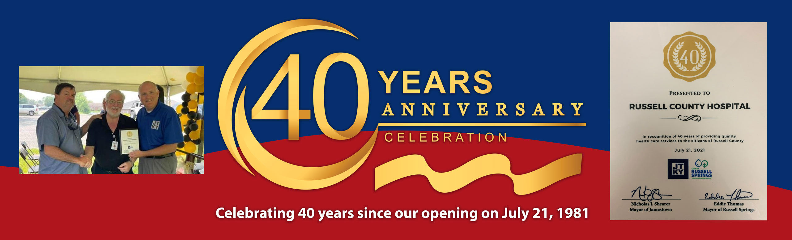 40 Years Anniversary   Celebrating 40 years since our opening on July 21, 1981
