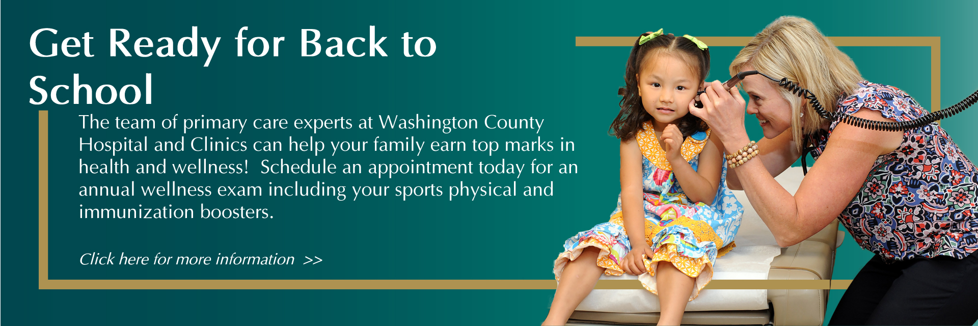 Get Ready for Back to School with an Annual Wellness Check