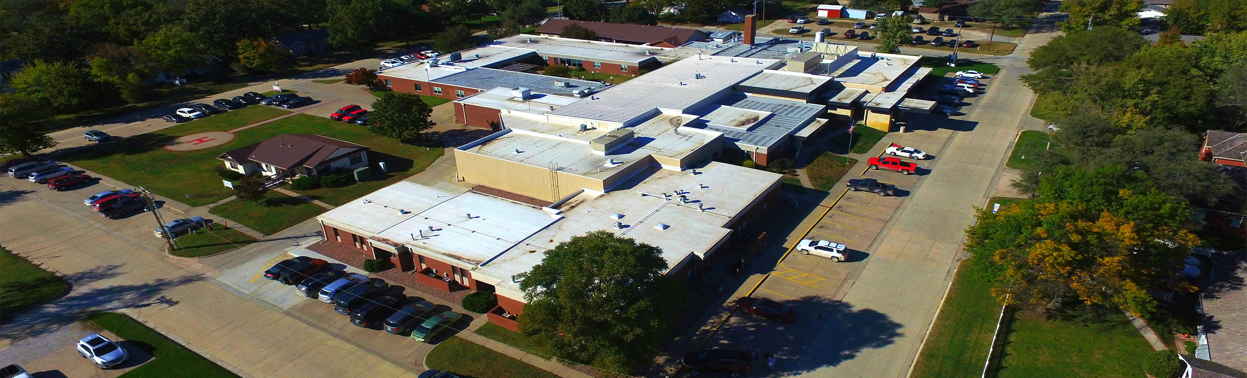 Picture of Saint Luke Hospital and Living Center from a sky view shot