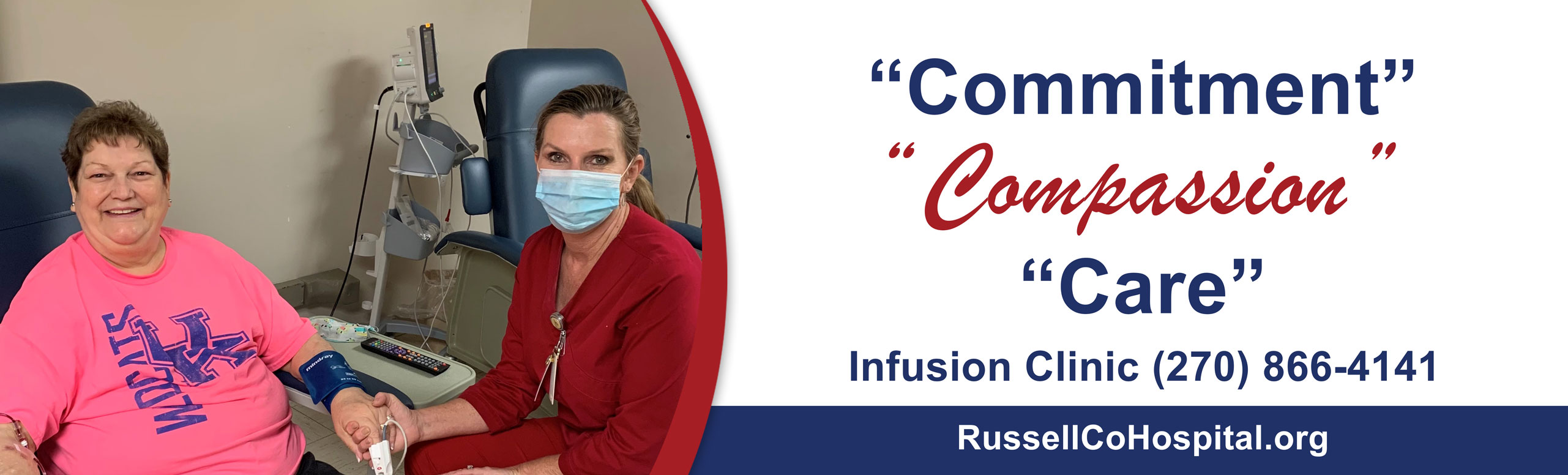 Pictured is one of our patients at the infusion Clinic.